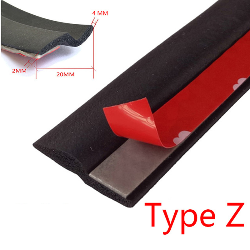 Car Styling Z Type Auto Rubber Seals for toyota trd camry rav4 corolla avensis aurisrav4 c-hr prius yaris for fiat 500 punto