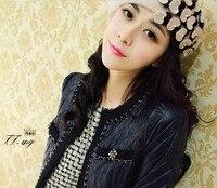 сцена-зимняя обувь бесплатная доставка новая грудь шапка шапка женская шапка мода японии стиль шапка берет с сердцем жемчужина модные аксессуары