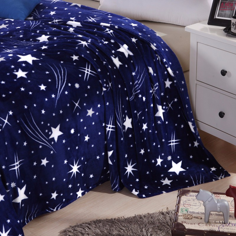 Image 4 - Одеяло CAMMITEVER Stars Galaxy Фланелевое флисовое клетчатое покрывало для дивана весенне зимние пледы одеяла с принтом-in Одеяла from Дом и животные