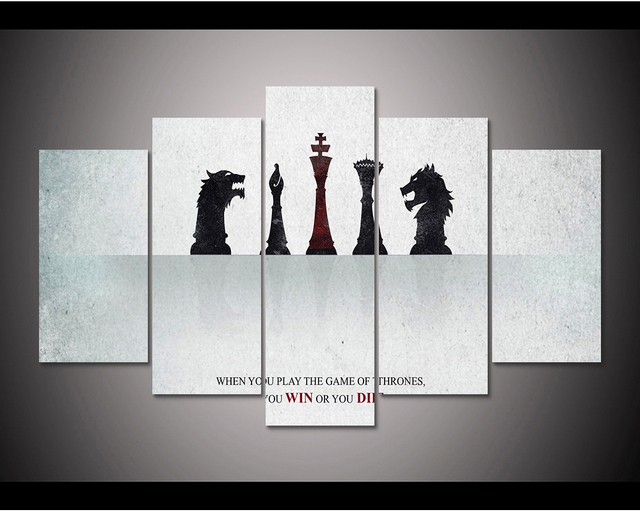 Framed HD Print 5pcs Game of Thrones canvas wall art Painting modern ...