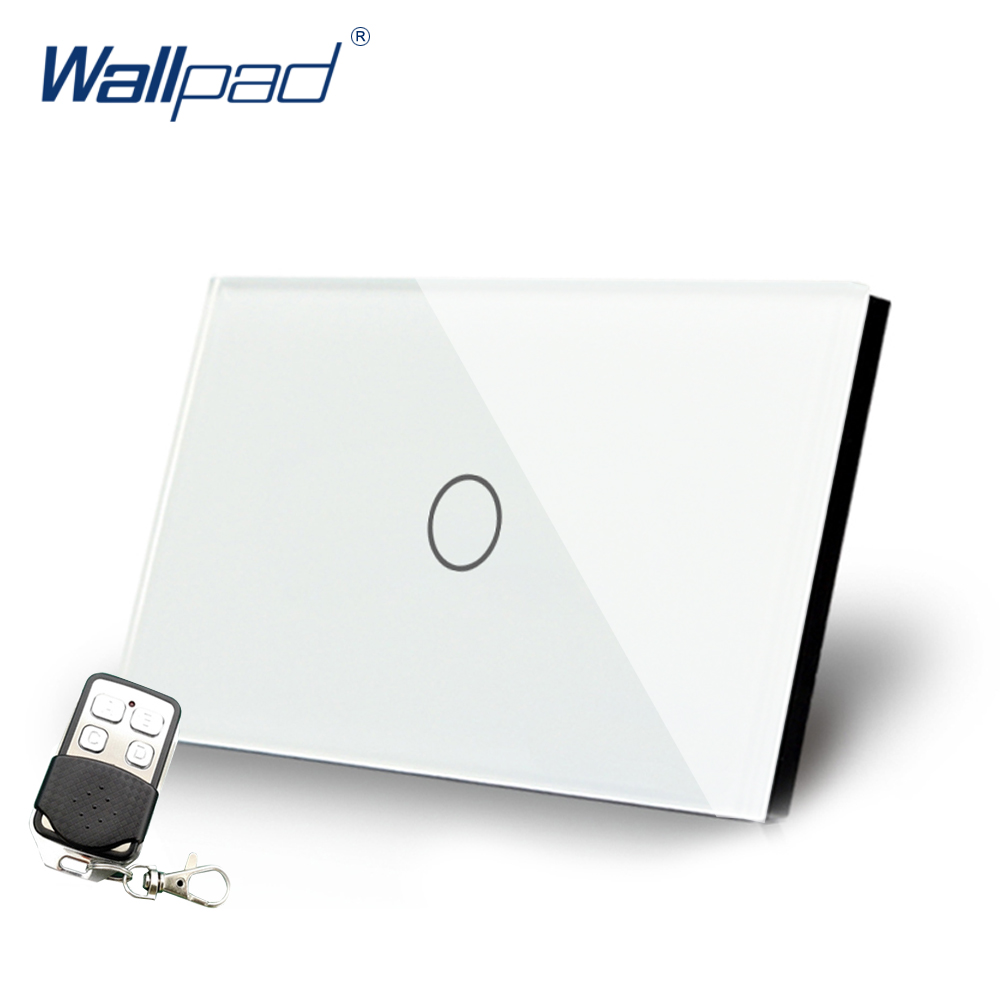 Remote Dimmer Wallpad US/AU Standard Touch Switch AC 110~250V White Dimmerable Wall Light Switch With Remote Controller remote dimmer wallpad eu standard touch switch ac 110 250v black wall light switch with remote controller