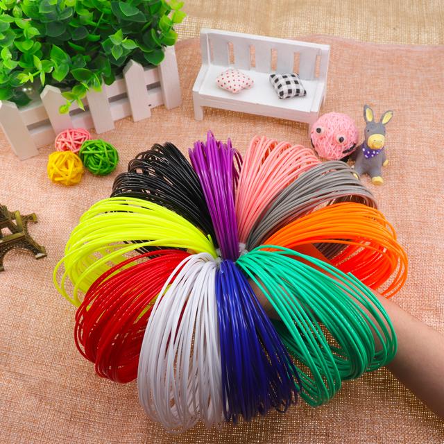 PLA/ 1.75mm 20 colors 3d pen filament pla 1.75mm 3d pen plastic  PLA filament  Rainbow For 3D Printing Pen 3D Printer