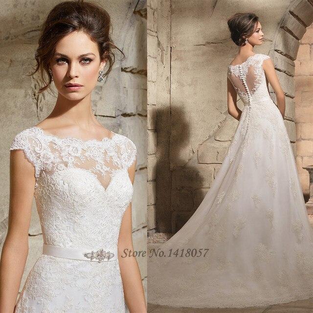 Gelinlik Lace Wedding Dress Vernassa A Line Bridal Dresses Buttons