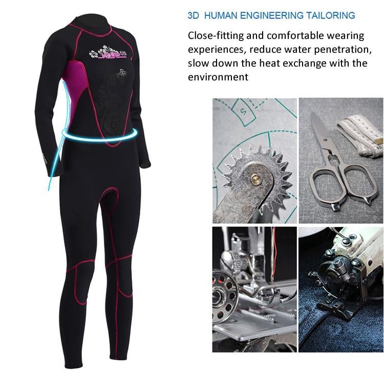 SLINX полностью напечатанный гидрокостюм с длинным рукавом 3 мм неопреновое оборудование для ныряний костюм для женщин Плавание Серфинг для подводного плавания для подводной охоты