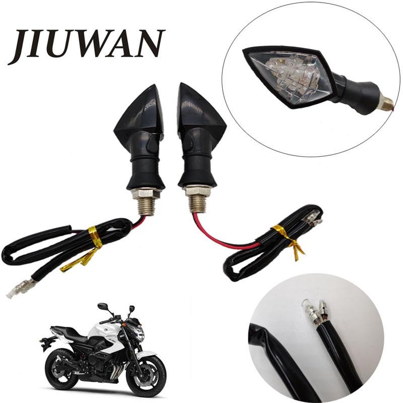 2 Pcs 12V Motorcycle Turn Signal LED Indicator Light Blinker Light Flashers Lighting Universal Motorcycle Accessories