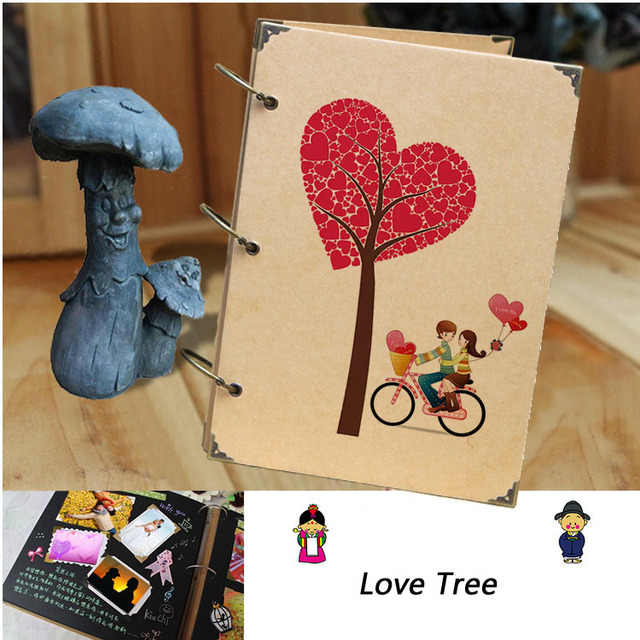 New Diy Handmade Creative Albums Romantic Souvenir: Aliexpress.com : Buy Retro Photo Album Love Creative Gift