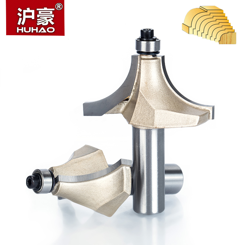 HUHAO 1pcs 1/2 Shank Beading Router Bits for wood Tungsten Carbide Beading Bit Double Edging Router Bit woodworking tools huhao 1pcs 1 2 1 4 shank classical router bits for wood tungsten carbide woodworking endmill tools classical mounlding bit