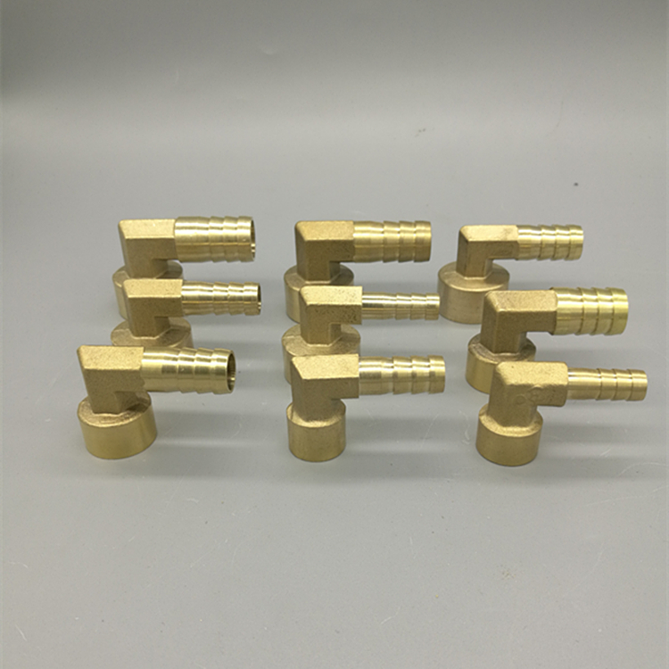 Brass Hose Pipe Fitting Elbow 8mm 10mm 12mm 14mm 16mm Barb Tail 1/4