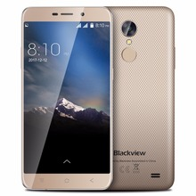 Original Blackview A10 MT6580A Quad Core Android 7.0 Mobile Phone 5.0″ HD Cell Phones 2G RAM 16G ROM Smartphone Fingerprint ID