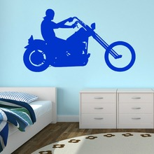 Removable Art Vinyl Decal Motorcycle Motorbike Wall Sticker Children Boys Bedroom Decoration Curving M-179