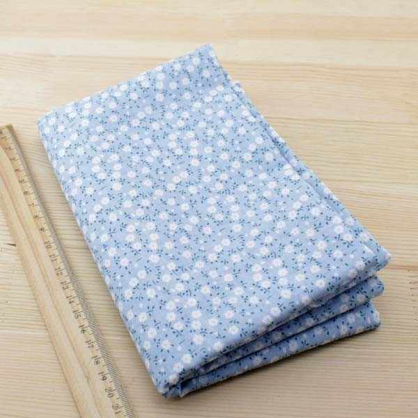 7 шт. 50 см x 50 см синий 100% хлопок ткань для Лоскутной Ткани для шитья DIY стеганая жир четверть Ткань Тильда кукла