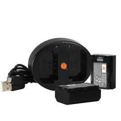 DSTE 2x NP-FZ100 Batterij + Dual USB Oplader voor Sony BC-QZ1, a9, a7R III, a7 III, ILCE-9 ILCE-7RM3 ILCE-7M3