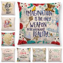 Cushion-Cover Pillow-Case Sofa Letters Thought Decorative Flowers Gorgeous Brilliant