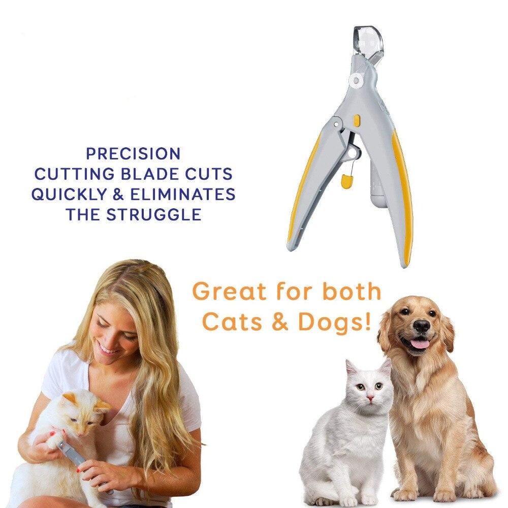 Cortaúñas profesionales para perros, cortaúñas para perros, molinillo para mascotas, con luz LED y lupa 5X, cortaúñas para mascotas
