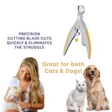 Профессиональная машинка для собак ногтей Триммер животное Кошачий коготь мясорубку с светодио дный Light & 5X Лупа защитные Pet кусачки для ногтей