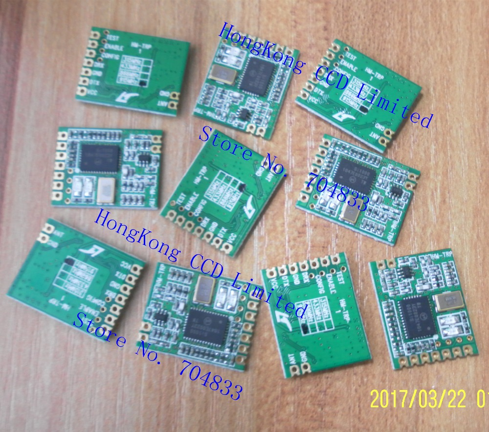 free shipping 10pcs Lot HM TRP 100mW 433Mhz 868Mhz 915Mhz Wireless data transmission module serial transmission