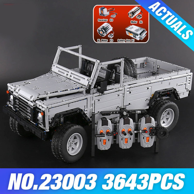 DHL 23003 Technic series MOC Remote-Control Wild off-road vehicles model Building Blocks Bricks toys Children Birthday Gifts