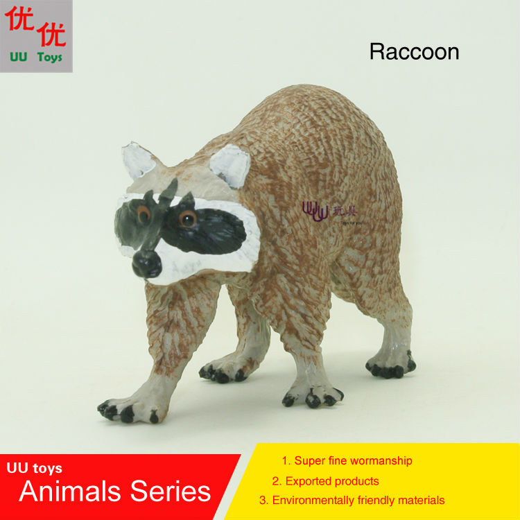 Hot toys:Raccoon(racoon, coon, Procyon lotor, ringtail) Simulation model  Animals  kids  toys children educational props roomble люстра racoon white