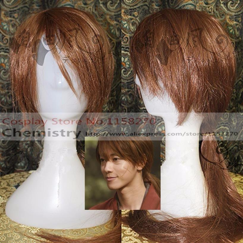 Бродяга Кэнсин Himura Kenshin Косплей hairwear с кепкой-in Аксессуары для костюмов from Новый и особенный в использовании