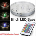 Wedding Centerpiece Table Decoration Lighting 8inch Spot LED Under Vase Base Light With Remote Controller
