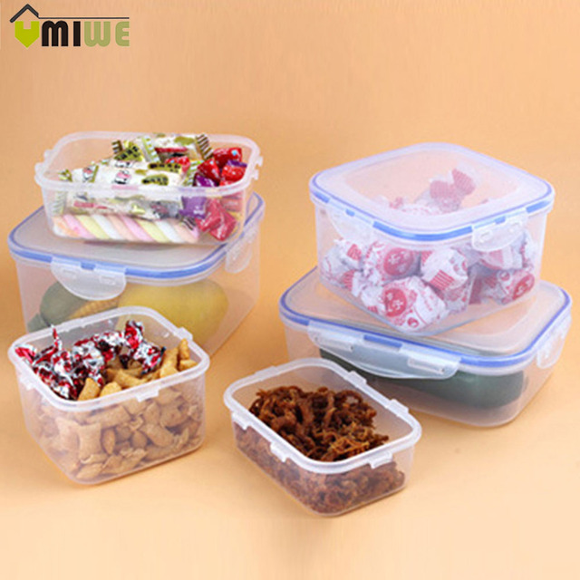 Aliexpress Buy 3 Pcsset Plastic Food Fruit Container Lunch
