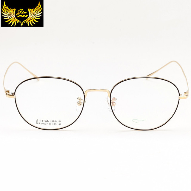 a3dee08516 High Quality Full Rim Women Style Pure Titanium Eye Glasses Super Light  Round Fashion Women s Optical Frame for Men Lady Women