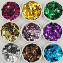 30g 6mm Flat Round Loose Sequins for Garment  Sewing -on Wedding Craft&Decoration Scrapbook DIY Accessories 5meters 17colors connecting strip with diy sequins handicraft pearl sequins garment connecting strip with diy sequins