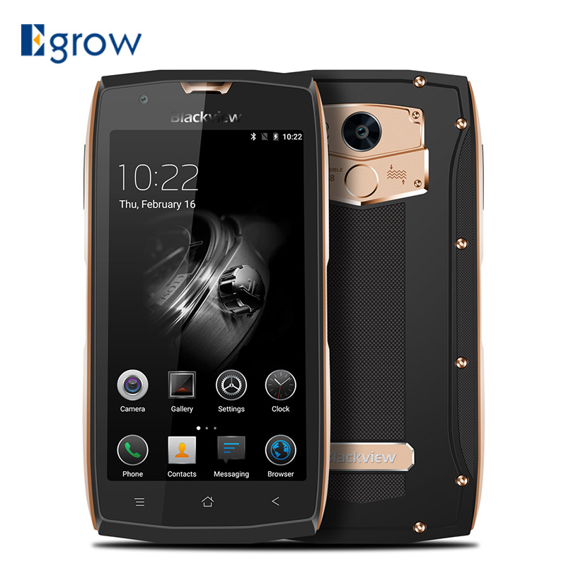 bilder für Original Blackview BV7000 Pro MTK6750T Octa-core Android 6.0 Wasserdichte Handy 5,0 ''Handys 4G RAM 64G ROM Smartphone