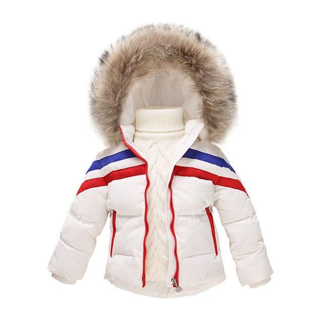 59b57386567f Down Hooded Jackets For Newborns Baby Warm Fashion Outerwear Sport ...