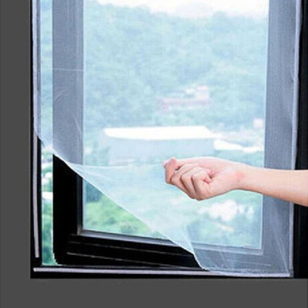 2 Farben Anti-insekt Fly Moskito Luxus Fenster Bildschirm Vorhang Net Mesh Protector Schwarz Weiß Home & Garten Bildschirm Vorhang Ein Kunststoffkoffer Ist FüR Die Sichere Lagerung Kompartimentiert