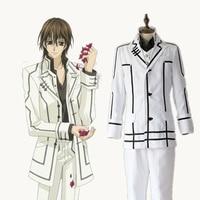 Kuran Kaname cosplay bianco uomo uniformi Giapponese anime Vampire Knight abbigliamento Mascherata/Mardi Gras/Carnevale
