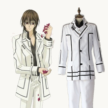 Kuran Kaname cosplay disfraces blanco Hombre uniformes anime japonés  Vampire Knight ropa mascarada Mardi Gras Carnaval fc67f6210b75