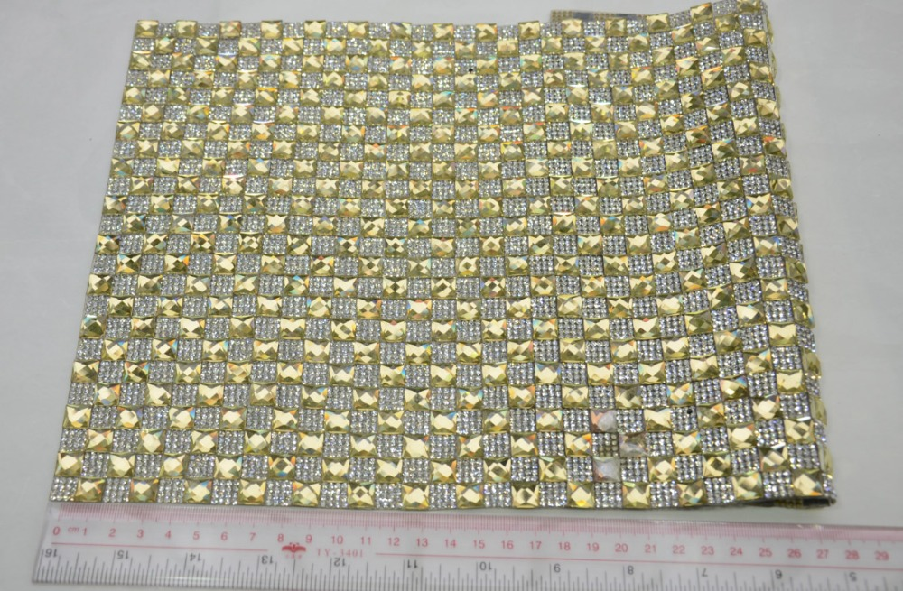 24rows hot fix <font><b>square</b></font> rhinestone trimming,2.5mm rhinestone along with 10mm glass beads strass banding applique for dress craft