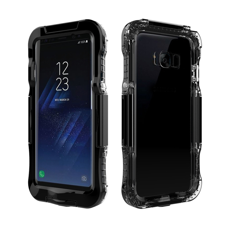 AILKIN Newest Waterproof Case for Samsung Galaxy S8 S8 Plus Kickstand Armor Cover for SM-S8 Plus Swimming Phone Case Protector (2)