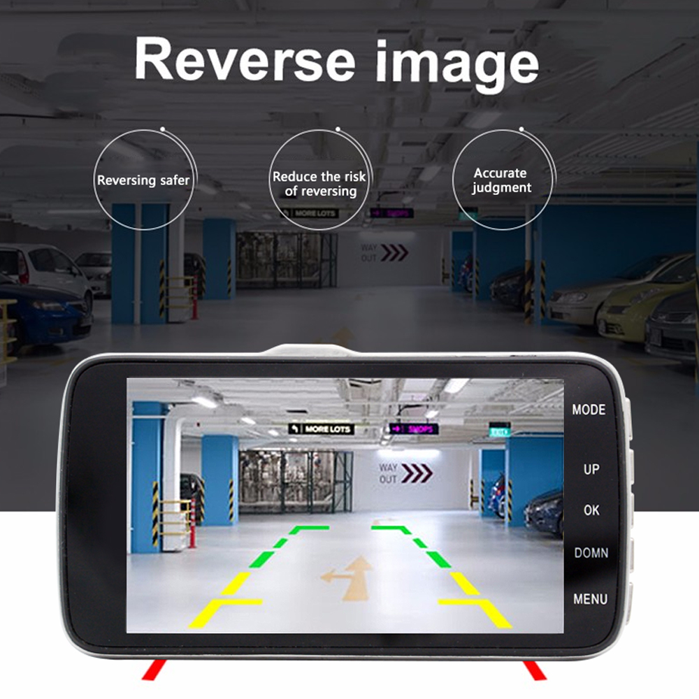 4/'/'Auto DVR HDR Video Recorder Night Vision Parking Monitor W//Rear View Camera