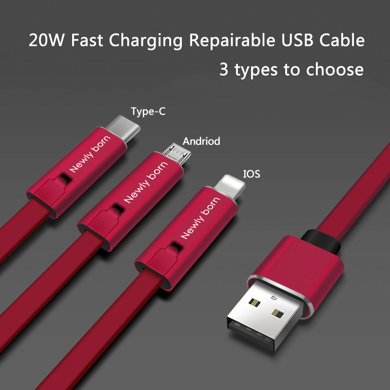 HTB1SPt3X6zuK1Rjy0Fpq6yEpFXaD 4A Fast Charger Cable Repairable USB Data Sync Charging Cord 1.5m Repair Recycling Renewable Charging Adapter Cord for IOS TypeC