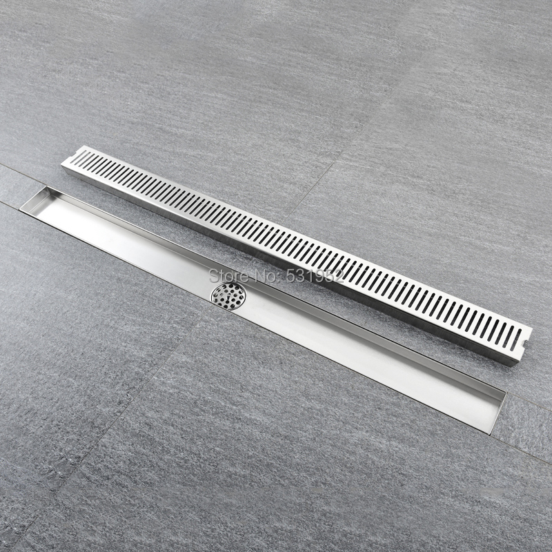 60CM Linear Bathroom Kitchen Shower Square Design Floor Drain Stainless Steel Shower Drain Multipurpose Bath Shower