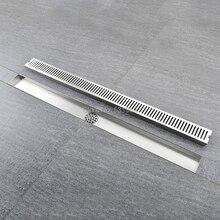 60 cm Lineare Bagno Cucina Doccia Quadrato di Disegno Scarico A Pavimento Doccia In Acciaio Inox di Scarico Multiuso Bagno Doccia Miglioramento