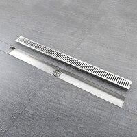 60CM Linear Bathroom Kitchen Shower Square Design Floor Drain Stainless Steel Shower Drain Multipurpose Bath Shower Improvement