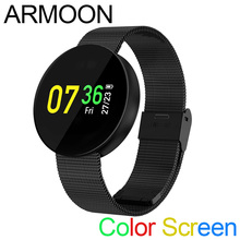 Relógio inteligente CF008 Sono Pulseira Heart Rate Monitor de Fitness Fitness Pressão Arterial Pulseira Banda Tela Colorida Rodada Relógio Esportivo