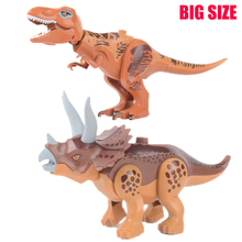 Jurassic Dinosaur world Park Figures Tyrannosaurs Rex Building Blocks Compatible With Sermoido Toys