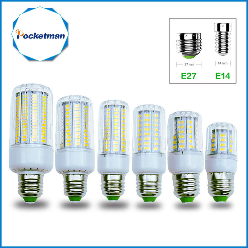 LED Bulb E27 E14 LEDs Lamp Light 50W 40W 30W 25W 15W 12W 7W Incandescent replace 220V Spotlight Corn LED Lights for home 50w e27 120 leds ufo light bulb