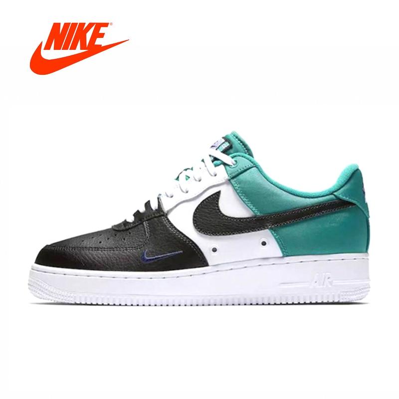 Original New Arrival Authentic Nike Air Force 1 Low Mini Swoosh Men's Comfortable Skateboarding Shoes Sneakers 823511-002