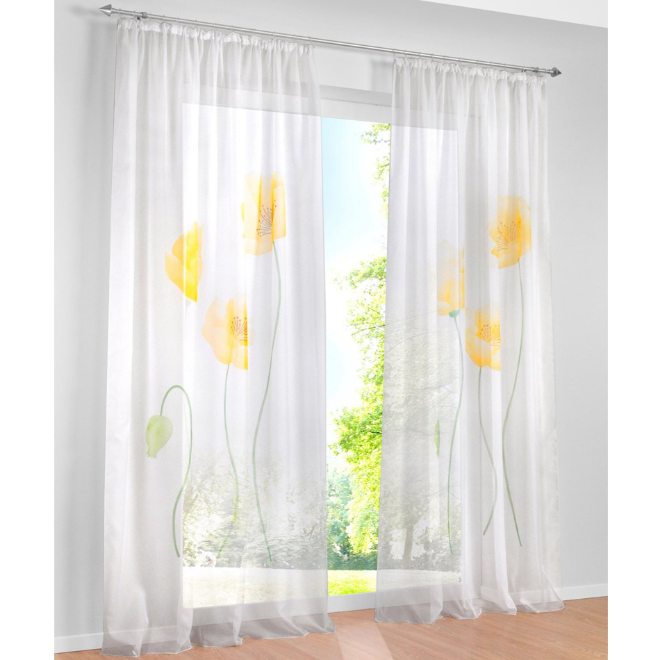 Sheer yellow curtains - Aliexpress Com Buy Voile Sheer Yellow Purple And Pink Tulip Print Floral Sitting Room Decorative Window Curtains Tab Top Tape Top Curtains From Reliable