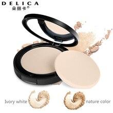 Delica два цвета 9 г натуральный прессованный порошок светильник консилер для лица макияж основа