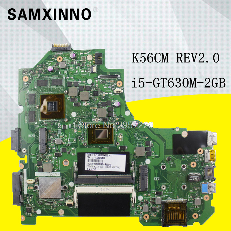 I5// I7 CPU K56CB Motherboard For ASUS A56C S56C K56C K56CM GT740M With 987// I3