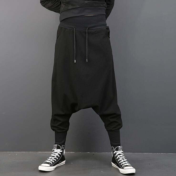 2017 Neue Männer Kleidung Friseur Hip Hop Straße Elastische Taille Tiefem Schritt Hosen Pluderhosen Plus Größe Sängerin Kostüme
