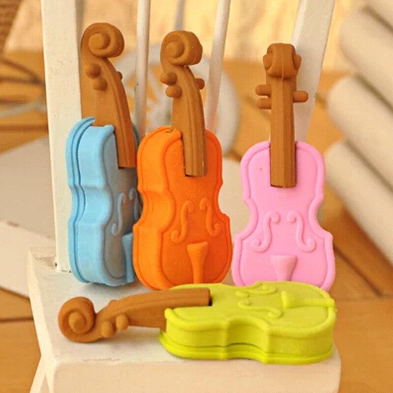The Music Eraser Funny Violin Eraser With 3D Eraser Promotion  Shaped Eraser Disocunt MOQ 10  Pieces Per Lot