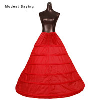 New Arrival 6 Hoops Red Petticoats 2018 Underskirt For Ball Gown Wedding Dresses Bridal Gowns Wedding Accessories Crinoline