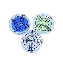 Bubble-Accessories Round-Level Bullseye Green-Color Measuring-Instrument Plastic White